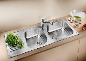 Large deep bowl inset kitchen sink