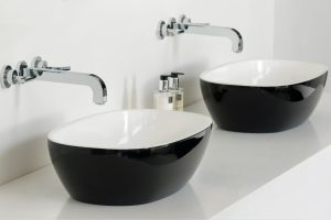 Barcelona 60 free standing stone basin black colour