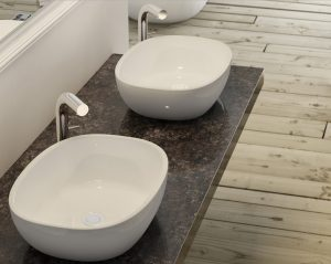 Barcelona 60 free standing stone basin white colour