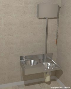 CHBC combination stainless steel slop hopper with cistern