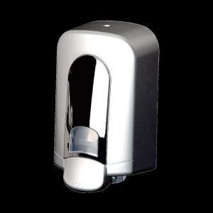 grey gel hand soap dispenser