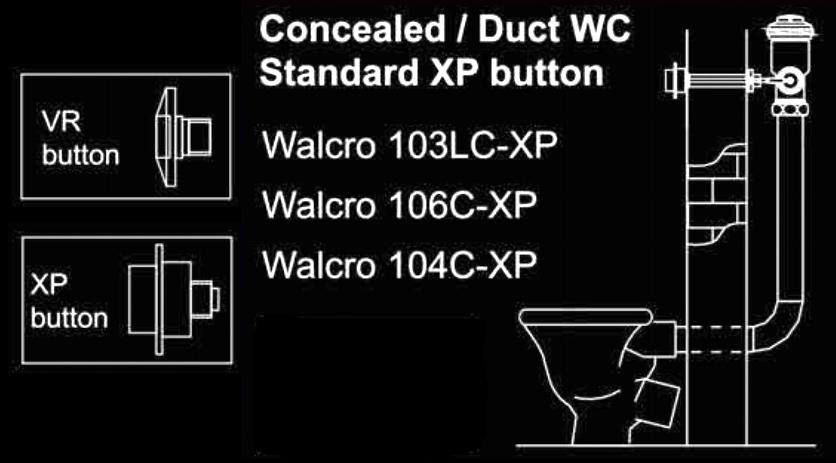 Toilet flush valve duct installation diagram
