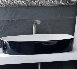 Ios-80 black stone basin