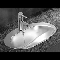 Oval-stainless-steel-drop-in-basin