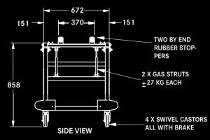 TLT tilting trolley diagram side view
