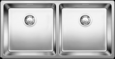 Double bowl inset kitchen sink