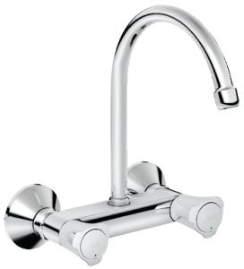Commercial kitchen sink mixer