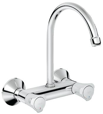 Commercial kitchen sink mixer