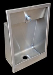 Recessed drinking fountain basin combo for prisons