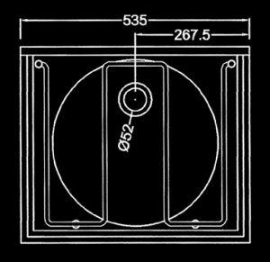 DSG drip sink cleaner sink top dimensions