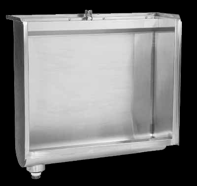 Flat back stainless steel school urinal mad from stainless steel in South Africa