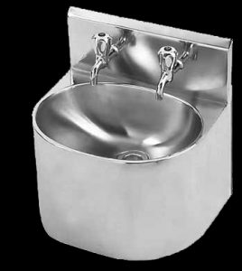Heavy duty stainless steel hand wash basin for factories