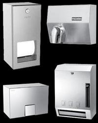 Hands free washroom machines