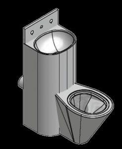 Prison toilet basin combination