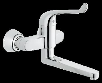 Medical elbow action wall mounted hospital mixer