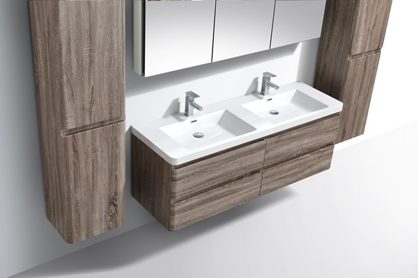 silver oak double vanity - Bathroom Cabinets Kzn
