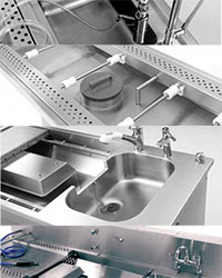 Stainless steel mortuary products
