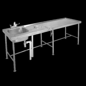 MTS post mortem table with basin for mortuaries