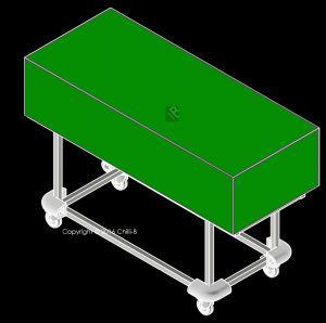 mortuary trolley with cover