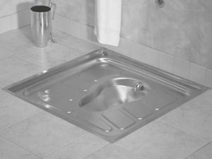 Stainless steel squat pan for prisons