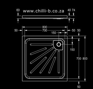 Stainless steel shower tray dimensions