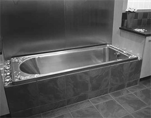 Stainless steel bath