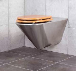 Franke CMPX594 disabled stainless steel wall hung toilet pan
