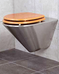 Stainless steel wall hung pan