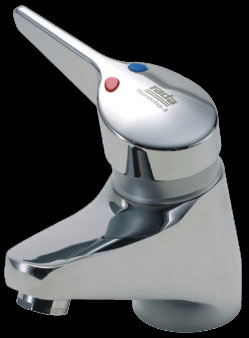 Temperature controlled safety medical basin mixer