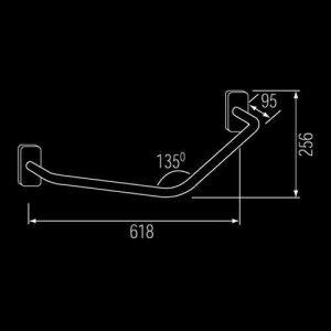 Franke CNTX700A stainless steel grab rail diagram
