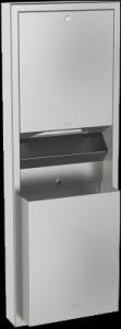 Franke RODX602 Rodan wall mounted paper towel dispenser waste bin combination