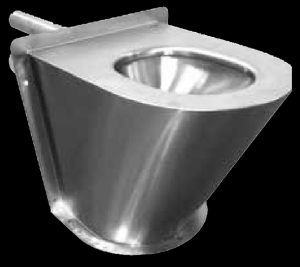 SAPX597 Maximum security South Africa Police prison cell toilet pan