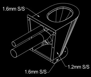 SAPX597 Maximum security South Africa Police prison cell toilet pan 356185 diagram back