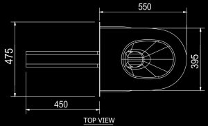 SAPX597 Maximum security South Africa Police prison cell toilet pan 356185 diagram top