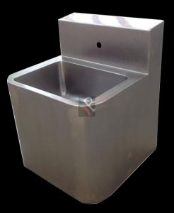 Heavy duty stainless steel prison basin for wall hung