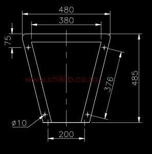 Prison toilet diagram back view