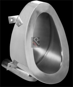 Stainless steel prison back entry urinal