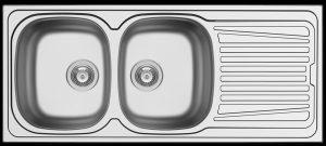 Affordable double bowl kitchen sink - reversable