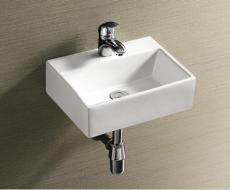 Small modern rectangle wall hung bathroom basin