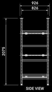T3 single obese body rack diagram