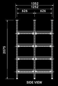 T4 double body rack diagram