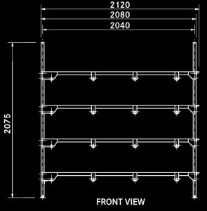 T4 single body rack side dimensions