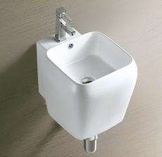 Modern wall hung bathroom basin