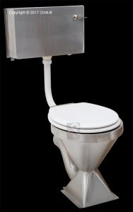 stainless steel toilet cistern low level industrial vandal resistant proof