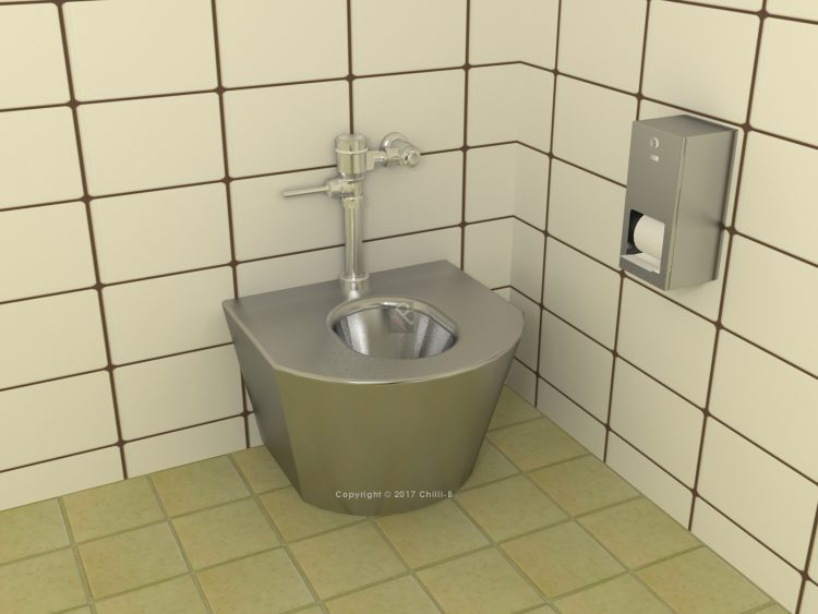 bariatric obese toilet stainless steel