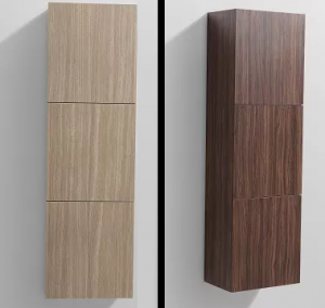 1500 mm Side cabinet in Oak finish (left) and Walnut finish (right)