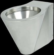 Stainless steel vandal proof wall hung pan