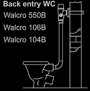 back entry exposed cobra junior walcro flush mechanism