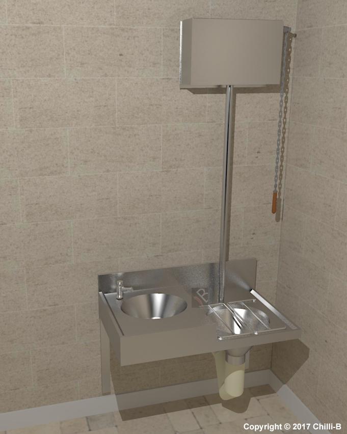 Chbc Slop Hopper Basin Combination Sink