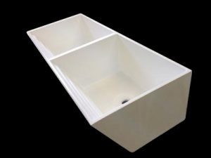 Classic ribbed double laundry basin